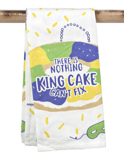 There is Nothing King Cake Can't Fix Kitchen Towel