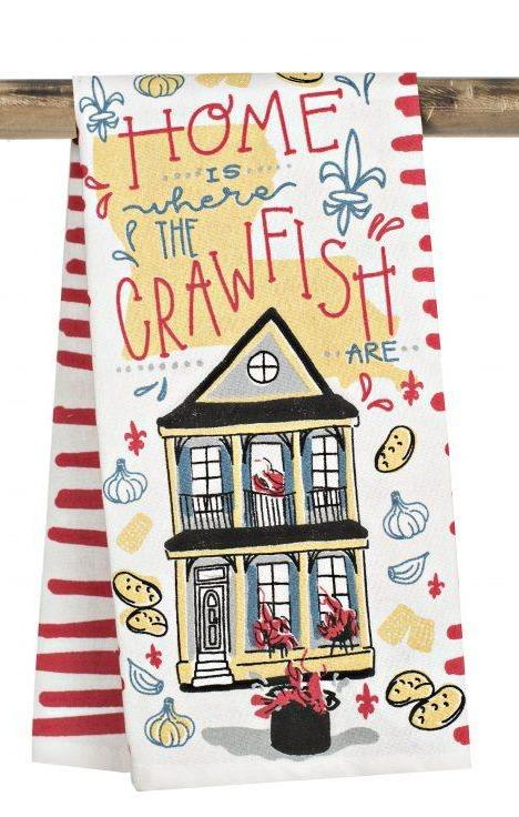 Kitchen Towel – Home is Where the Crawfish are