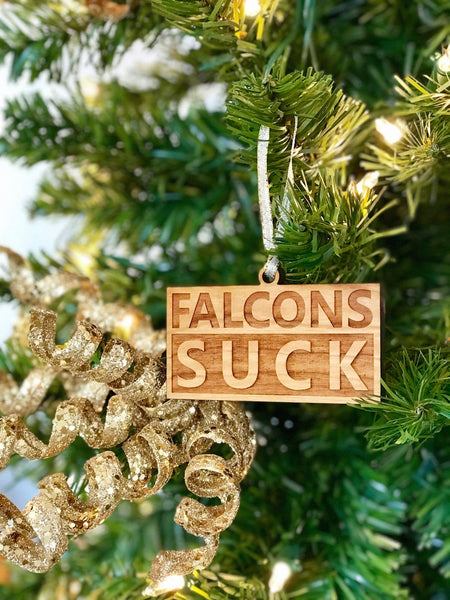 Holiday Ornaments - Falcons Suck