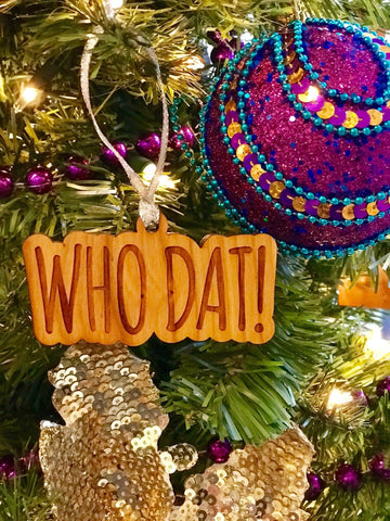 Holiday Ornaments - Who Dat