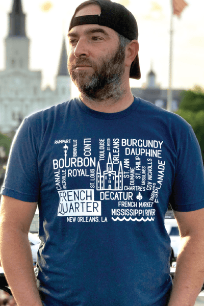 French Quarter Map T-Shirt - JUNE 2018
