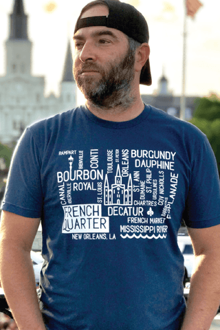 *French Quarter Map T-Shirt - JUNE 2018