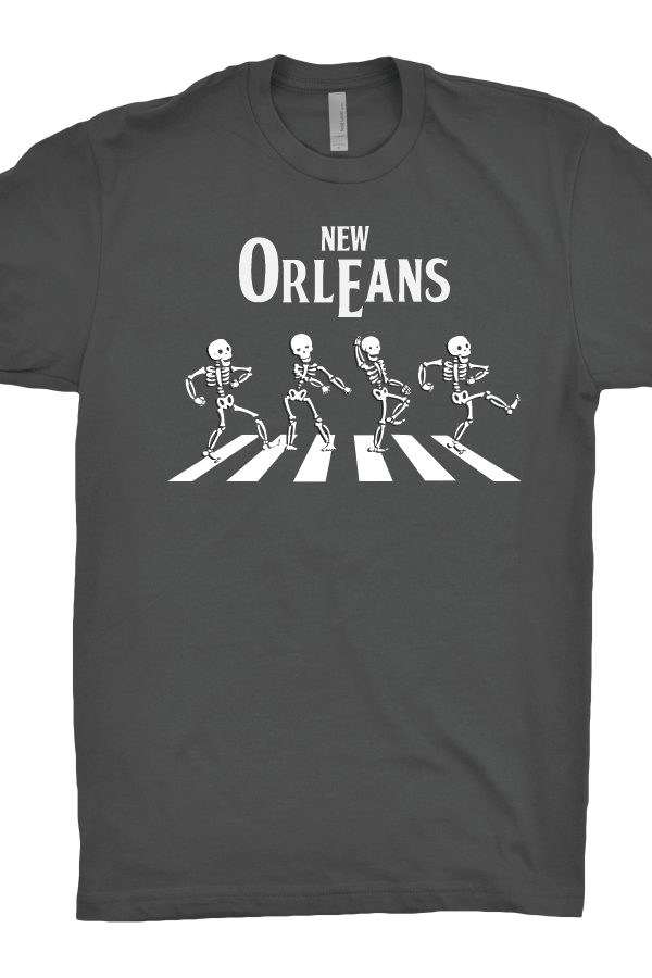 New Orleans Skeleton Beatles T-Shirt