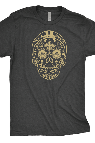 New Orleans Saints Skull T-Shirt