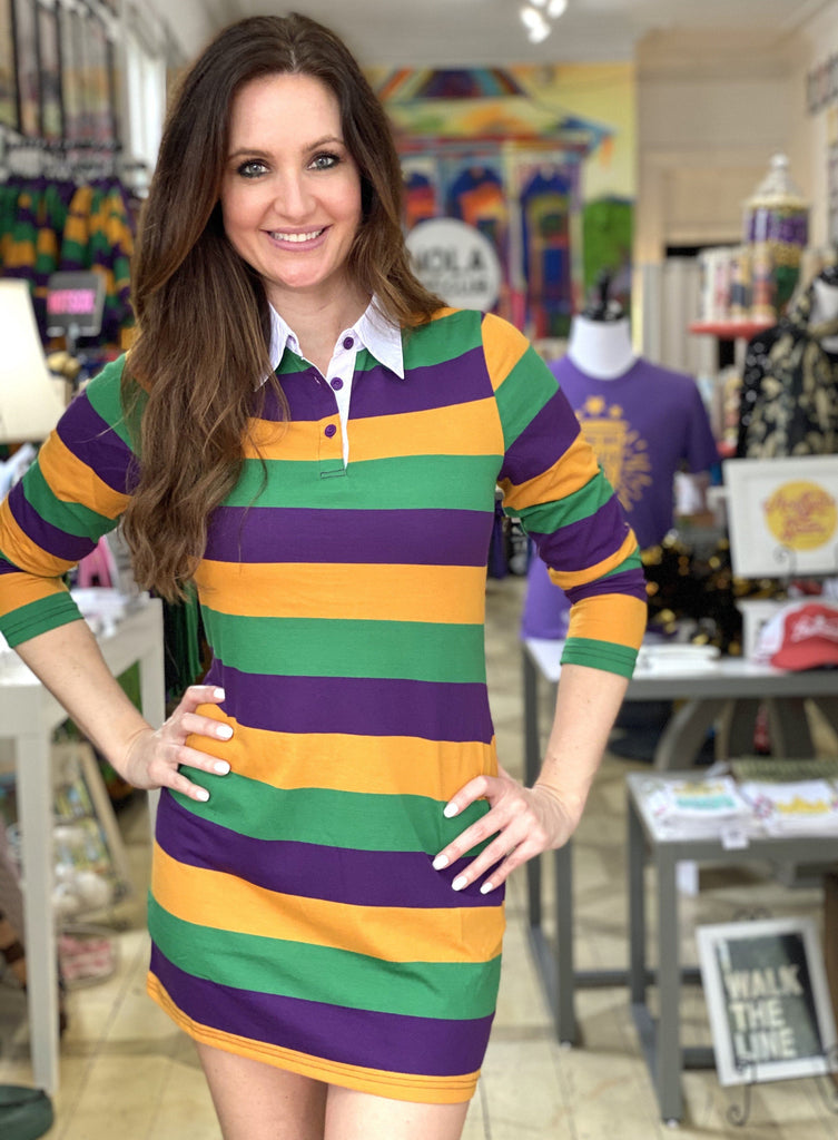Mardi Gras Polo Dress