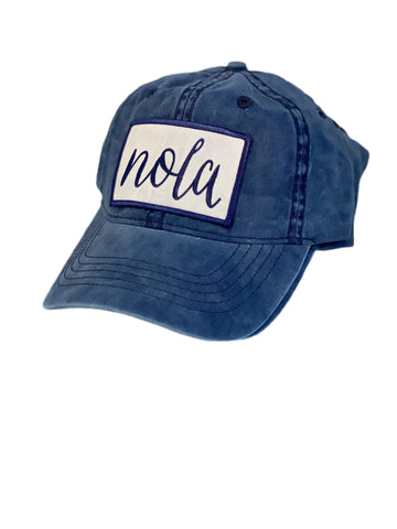 Navy Washed Baseball Hat
