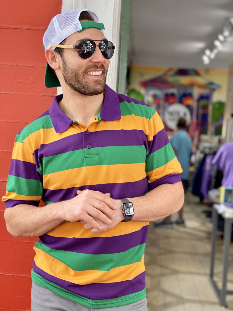 Mardi Gras Uni-Sex Polo