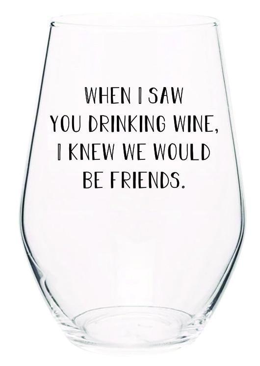 Wine Friends Wine Glass