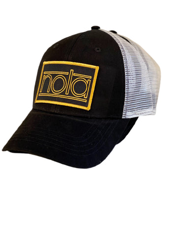 Black NOLA snap back hat