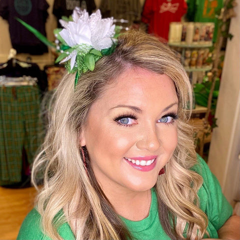 St. Patrick's Day Flower Headband
