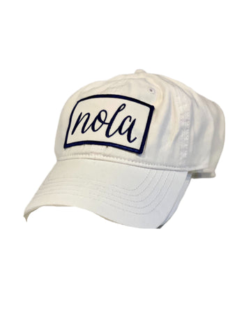 NOLA White washed baseball hat