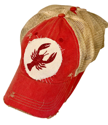 Glitter Crawfish Trucker Hat