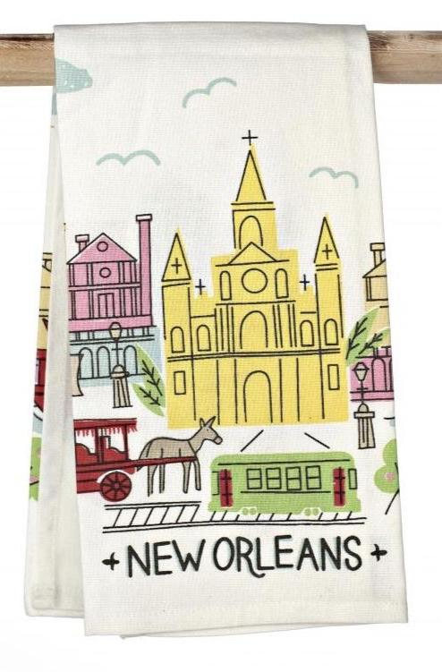 Colorful French Quarter Towel