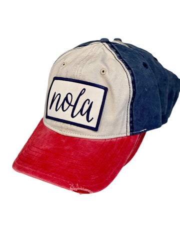 NOLA Red, White & Blue Hat