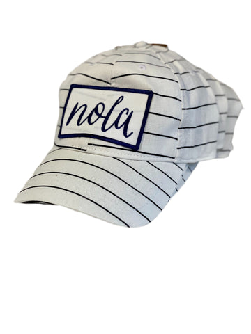 NOLA White & Navy Hat