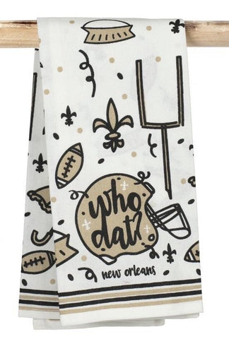Who Dat Tea Towel