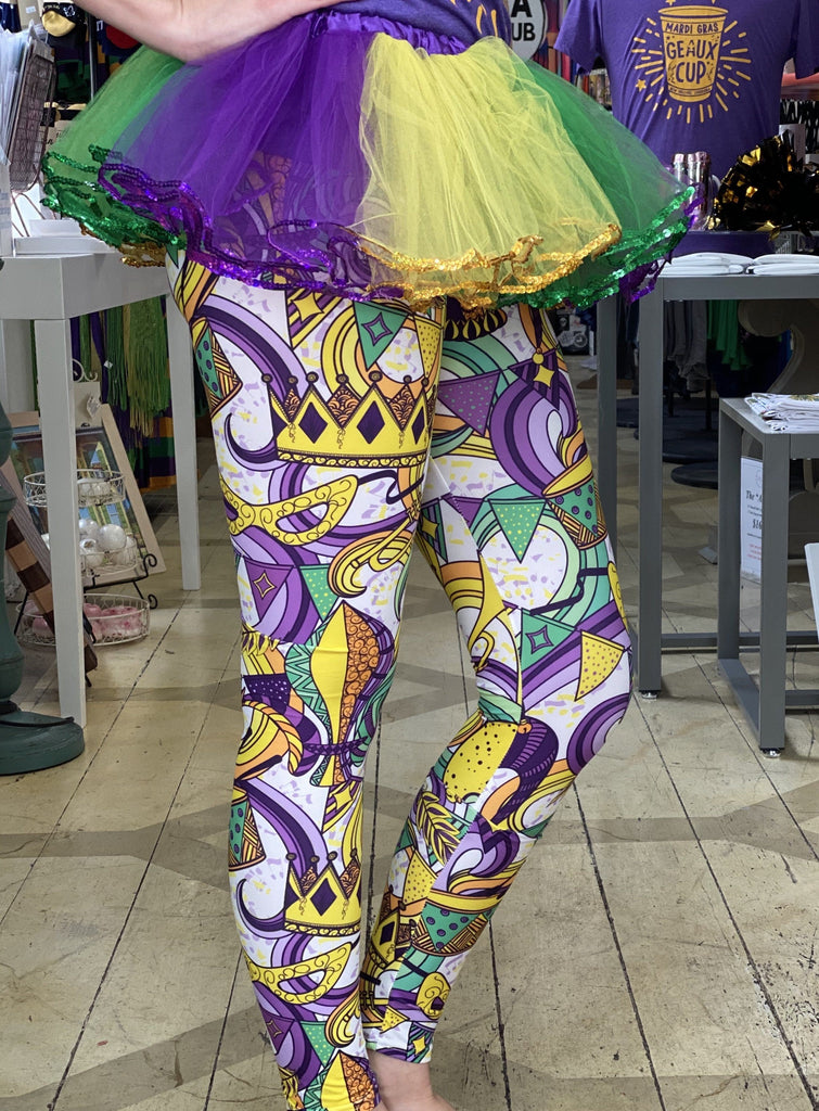 Mardi Gras Leggings