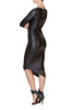 Nightfall Faux Leather Dress