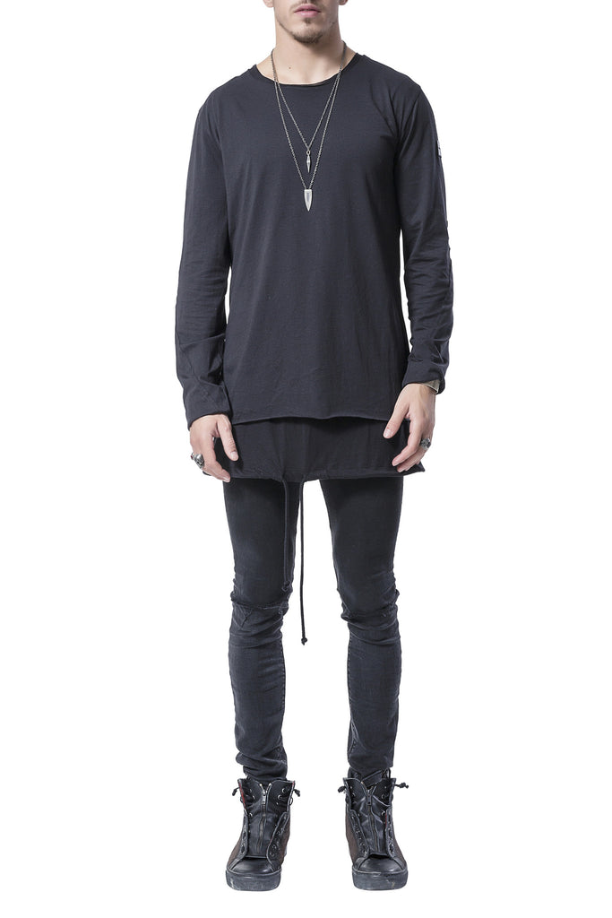Black On Black Drawstring Shirt
