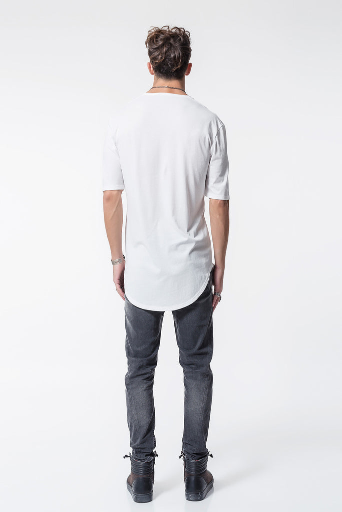 Trail Back Tee With 3/4 Sleeves