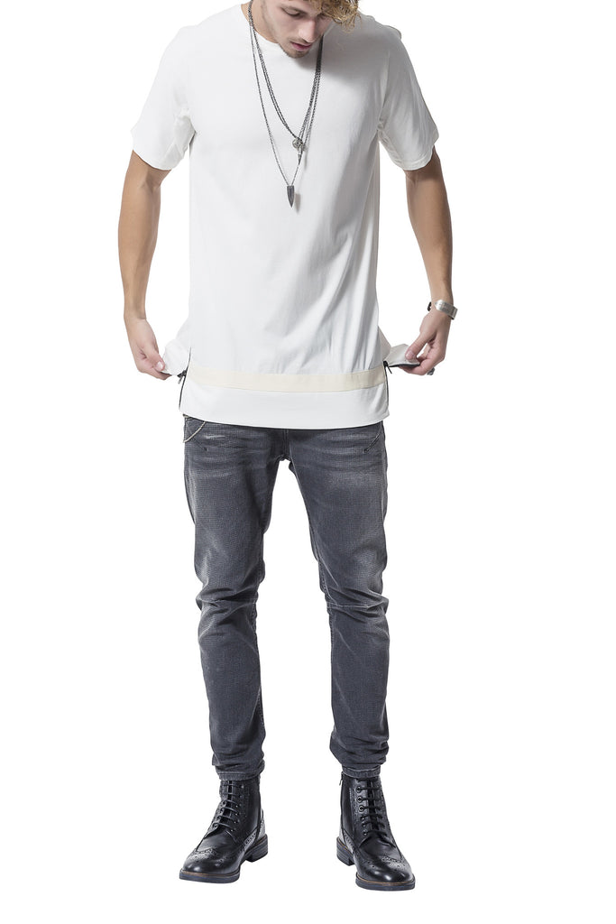 Double Zipper Tee