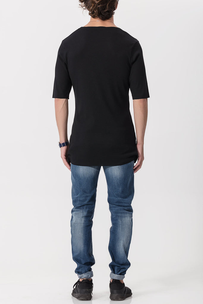 3/4 Sleeve Ribbed Tee