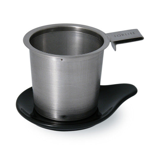 Hook Handle Infuser with Ceramic Dish