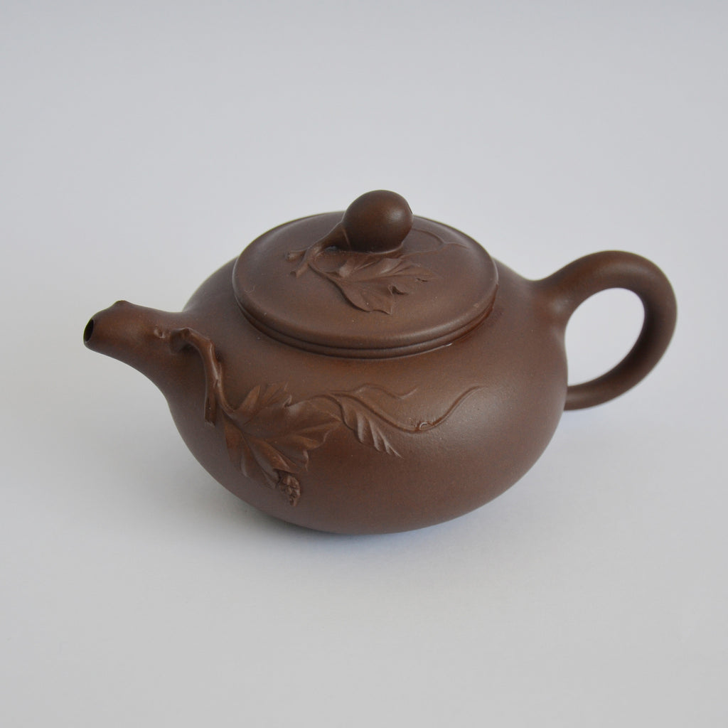 Handmade Autumn Leaves Yixing Teapot