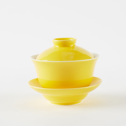 Yellow Porcelain Gaiwan