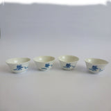 Hand Painted 'Playing Children' Gongfu Tea Cups