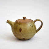 Matte Glazed Kohiki Teapot with Handle Speckled