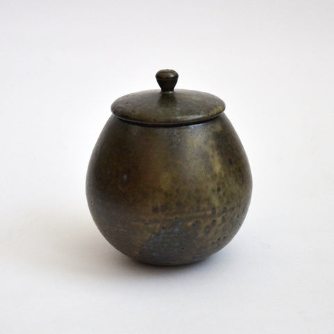 River Stone Glaze Tea Jar Medium Round
