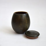 River Stone Glaze Tea Jar Flat Top