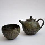 River Stone Glaze Teapot with Loop Handle