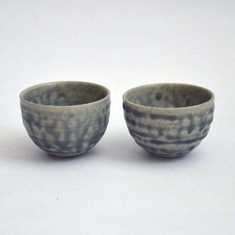 Grey Blue Glaze Gongfu Teacups Pair