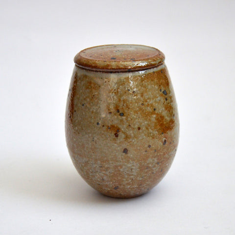 Glazed Kohiki Speckled Tea Jar Flat Lid