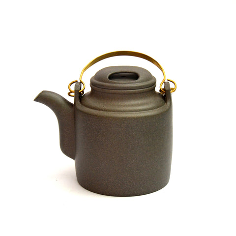 Rare Ash Grey 'Barrel' Master Yixing Teapot