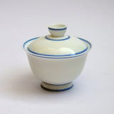 Porcelain Gaiwan with Blue Stripes