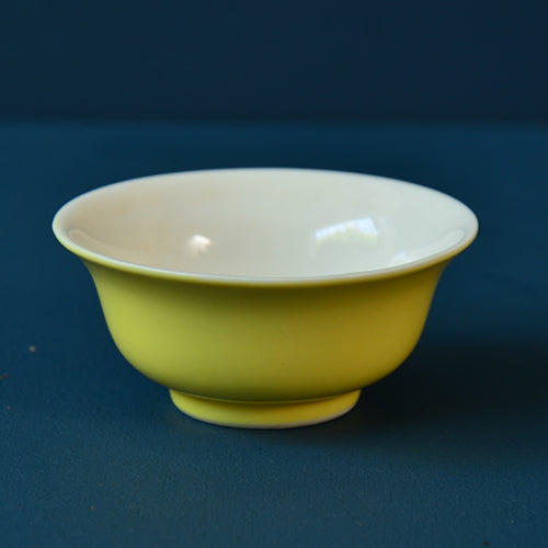 Yellow Porcelain Tea Tasting Cups