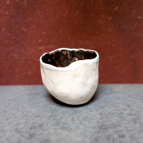 White and Silver Yunomi Teacup