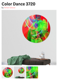 Abstract by Rafael Salazar Disk Prints