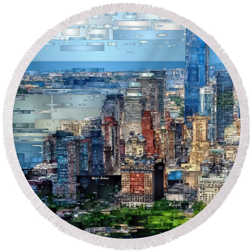 Round Beach Towel - Chicago. Illinois