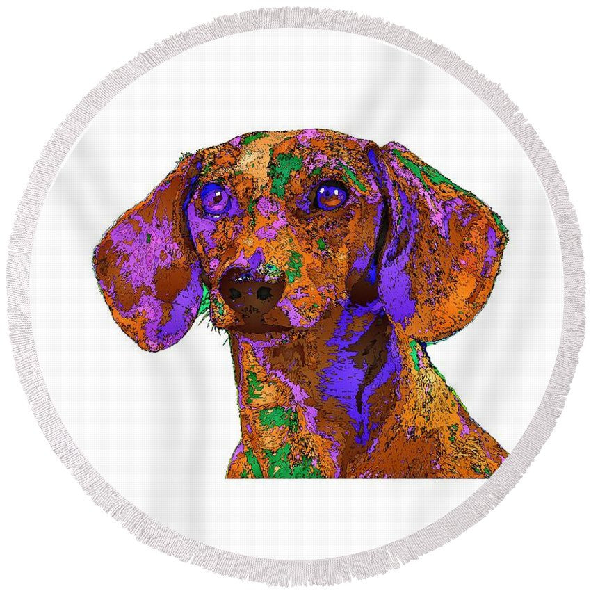 Round Beach Towel - Chloe. Pet Series