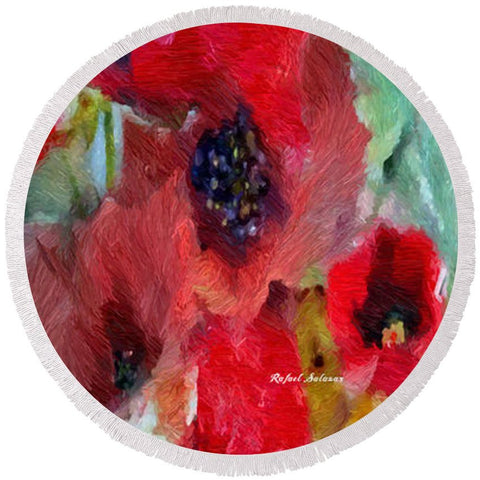 Round Beach Towel - Flowers For You