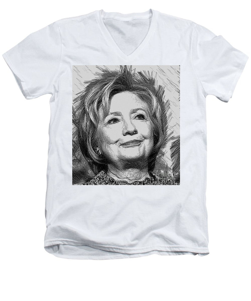 Men's V-Neck T-Shirt - Hillary Clinton