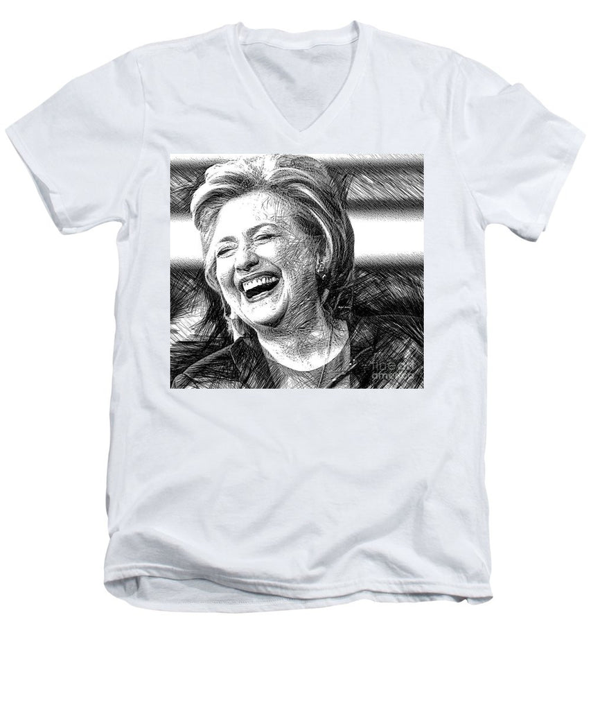 Men's V-Neck T-Shirt - Hillary Rodham Clinton
