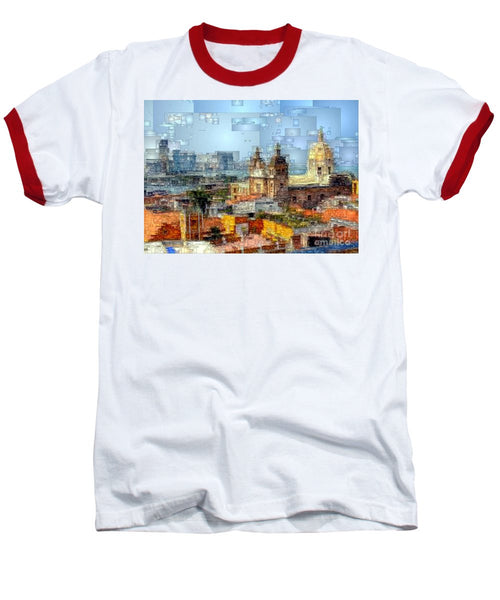Baseball T-Shirt - The Walled City In Cartagena De Indias Colombia