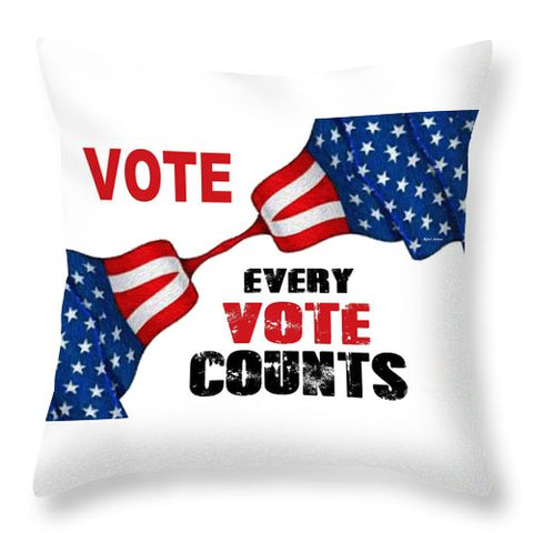 Vote - Every Vote Counts - Throw Pillow