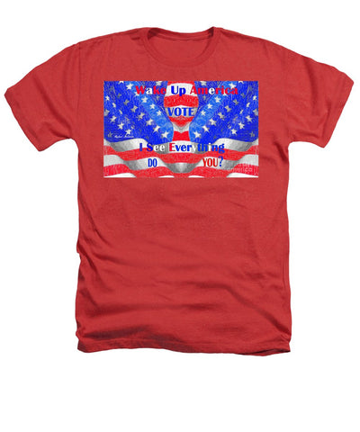 Wake Up America  - Heathers T-Shirt