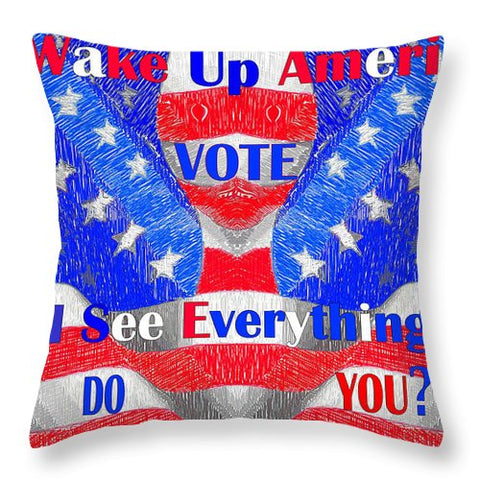 Wake Up America  - Throw Pillow